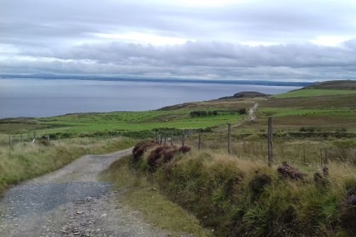 Looking back towards Northern Ireland coastline
